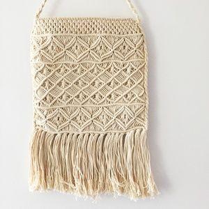 Handbags - Boho Macrame Fringe Crossbody Bag Purse